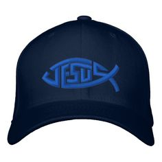 Jesus Fish Ichthys Symbol embroidery Baseball  Cap