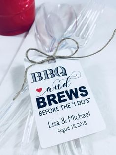Party Favor Hang Tags, Wedding Favor Paper Tags, Bbq with Rehearsal Dinner Decorations Party Favors Dinner Party Favors, Rehearsal Dinner Decorations, Bbq Party, Rehearsal Dinner Bbq, Wedding Rehearsal Dinners, Rehearsal Dinner Etiquette, Bbq Decorations, Wedding Decorations, Beach Party