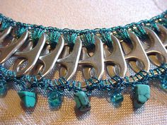 Pull Tab Necklace  Healing Stones Series   Turquoise by PopTopLady, $30.00