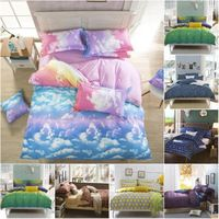 2015 New Bedding Set Blue Sky Bed Linen Bedspread Bedding Sets Aloe Cotton Duvet Cover Twin/Full/Queen Size Dropshipping