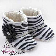 Animal Print Baby Boots [boots] - $12.00 : Mountain Bows & Clothes ...so stinkin cute!!!!