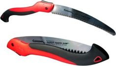 A folding pruning saw like the 10″ Corona RS 7265  will cut a large stack of firewood faster, and packs smaller than a bow saw.  Japanese pattern teeth like those on the Corona cut aggressively and quickly on the pull rather than the push stroke like western saws. Cutting on the pull stroke may take a little getting used to but I have found it requires less effort, lends more control and is faster. The 10″ blade cuts logs up to 4-6″ around with ease.