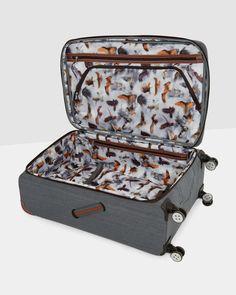 Large 4 wheel case - Grey | Bags | Ted Baker UK