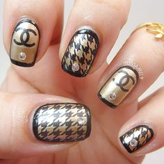 cute Chanel nail design by lissamel9 #designernails
