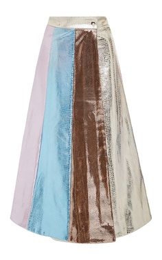 Embossed Metallic Circle Skirt by TATA NAKA for Preorder on Moda Operandi