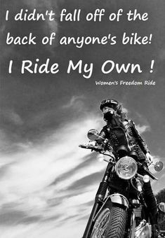 93 Biker Quotes memes colection for bike lovers wheel throttle gear therapy rider Motorcycle Memes, Women Motorcycle Quotes, Lady Biker, Biker Girl, Rider Quotes, Biker Love, Bmw, My Ride, Harley Davidson