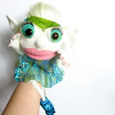 Ooak doll Elf doll Professional muppet Theater dolls Fairy doll Puppet theatre Ventriloquist puppet Educational Marionette Felt hand puppets by BozhenaFelt on Etsy https://www.etsy.com/listing/506046342/ooak-doll-elf-doll-professional-muppet
