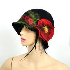 Chapeau en feutre / chapeau de Pentecôte chapeau par LAboutiqueArt