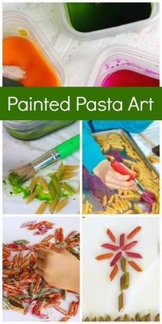 Painted pasta art for kids that ERUPTS - You don't want to miss this!