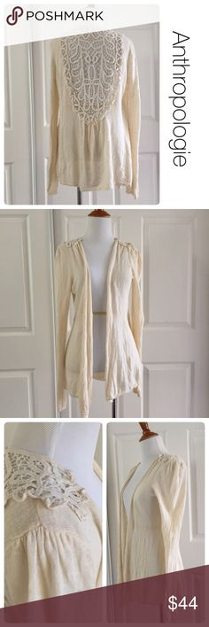 Anthropologie Knitted & Knotted cream cardigan L ♦️ Excellent condition. No stains or holes. ♦️materials- 55 linen/45 cotton Anthropologie Sweaters Cardigans