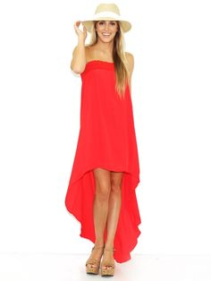 Boutique to You West Coast Wardrobe Christine Sleeveless Dress in Red on shopstyle.com
