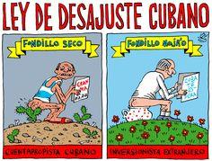 #HUMOR: 'Ley de Desajuste Cubano', viñeta de #AlenLauzán en Diario de #Cuba