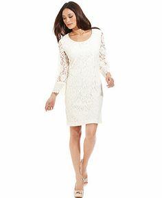 Style Dress, Long-Sleeve Lace Sheath - Womens Dresses - Macy's