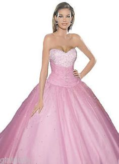 UK Stock Long Evening Formal Party Ball Gown Prom Wedding Bridesmaid Dress 6-16