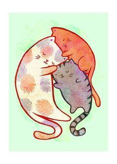 Abbraccio micio