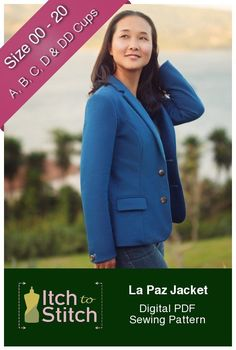 Look smart and chic while you make the call like the boss that you are in the La Paz Jacket. Designed to be sewn in a structured knit fabric, the La Paz Jacket is comfortable, yet you will feel absolutely composed. The La Paz Jacket looks just like a garment you purchase from a high-end …