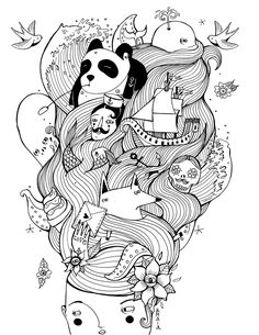 Coloring Book for Doodlers Anonymous - amaia arrazola illustration