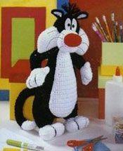 вязаный кот Сильвестр (Sylvester)