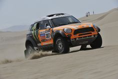 MINI ALL4 Racing face up to the heat of the Dakar Rally 2013.