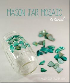 Mosaic Mason Jar - diy tutorial
