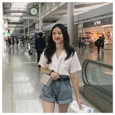 Korean Casual Outfits, Korean Summer Outfits, Korean Outfit Street Styles, Style Outfits, Retro Outfits, Mode Outfits, Cute Casual Outfits, Fashion Outfits, Fashion Fashion