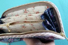 Accordion Women's wallet  / clutch DIY tutorial. Женский кошелек или портмоне своими руками. http://www.handmadiya.com/2015/08/accordion-wallet-tutorial.html