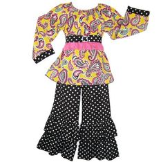 New Boutique Girls Paisley & Dots Clothing Clothes « Clothing Impulse