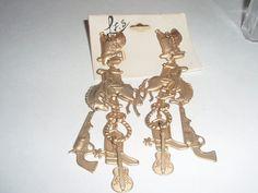 Retro Cowboy Dangle Earrings  with Western by SocialmarysTreasures, $8.00