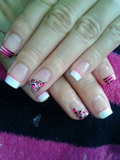 Vɨʋɨaռa Manicure, Pedicure Nail Art, French Nail Art, French Tip Nails, Gorgeous Nails, Pretty Nails, Tiger Nails, Nail Tip Designs, Finger