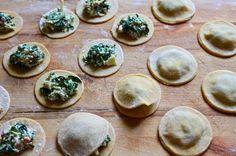 Ravioles blettes pancetta