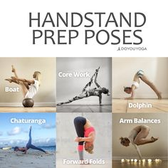 Practice these poses when you're first starting out to work toward handstands Photos by the lovely DYY ambassador @ania_75