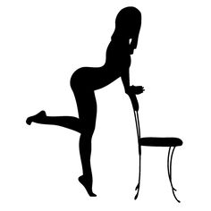 Wholesale Sexy Lady With Chair Funny JDM Vinyl Decal Sticker Fits Car Rear Windshield Fuel Tank Cap Truck Silhouette Clip Art, Woman Silhouette, Sketch Tattoo Design, Boudoir Photography, Burlesque Photography, Boudoir Poses, Posing Guide, Woman Drawing, Erotic Art