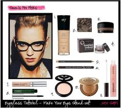 b8136d2dba2 How to highlight your glasses with make up