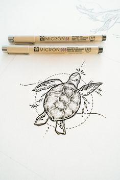 Dog Tattoos, Mini Tattoos, Tattoo Drawings, Small Tattoos, Tattoo Art, Tatoos, Pretty Tattoos, Beautiful Tattoos, Turtle Tattoo Designs