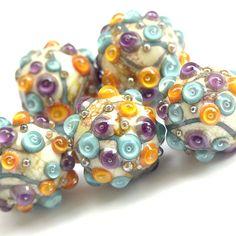 Frolic - Handmade Lampwork Glass Bead Set