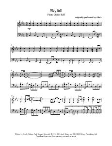 Skyfall - Adele. Find more free sheet music at www.PianoBragSongs.com.
