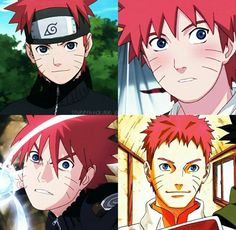 What if Naruto actually had red hair and passed it on to Boruto? Boruto, Naruto Uzumaki Shippuden, Naruto And Hinata, Anime Naruto, Red Hair Naruto, Otaku, Dragon Ball, Ninja, Naruto Quotes