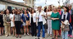 CORES DE CAMBADOS: A ALCALDESA FATIMA ABAL E MARIA XOSE CACABELOS  CO...
