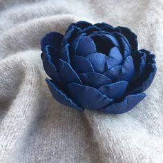 Milafleurart Leather flower brooch Leather Flowers, Flower Brooch, Throw Pillows, Cushions, Decor Pillows, Decorative Pillows
