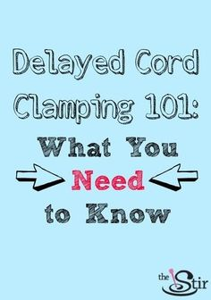 delaying cord clamping