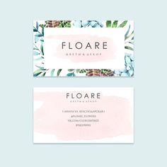 Вариант визитки для @floare_flowers #logo_by_nathalie