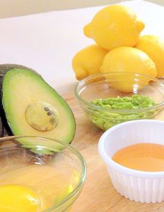 All Natural Face Mask Recipe-  The combination of avocado and carrot is especially good for your dry skin because of their moisturizing agents. Avocados are high in Vitamins A, D and E and are rich in unsaturated fats... read more here  |  http://gardentherapy.ca/avocado-face-mask-recipe/