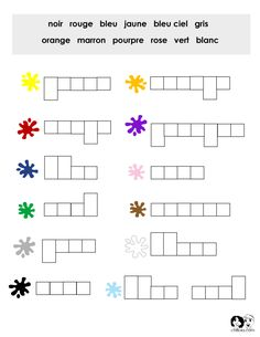 French color puzzle worksheet.