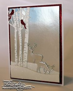 Impression Obsession Rubber Stamps Birch Trees