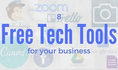 8 Free tech tools that I use in my business