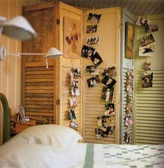 Interior Window Shutters With Fabric Inserts : ... Windows & Pallets on Pinterest  Louvered shutters, Old doors and