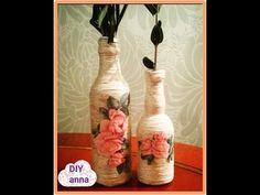 decoupage - decorazione di una bottiglia