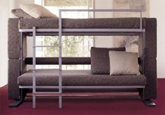 Beautiful Couch Converts to Bunk Beds