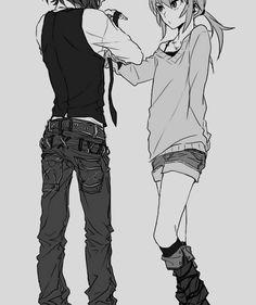 art Black and White anime monochrome bw yaminisakura yaminichirusakura