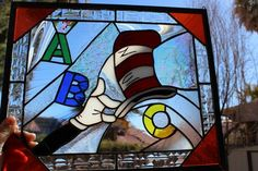 Dr Seuss ABC Panel By Kat Patrick - Delphi Stained Glass